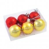 Set globuri XMAS LINE Gold Red